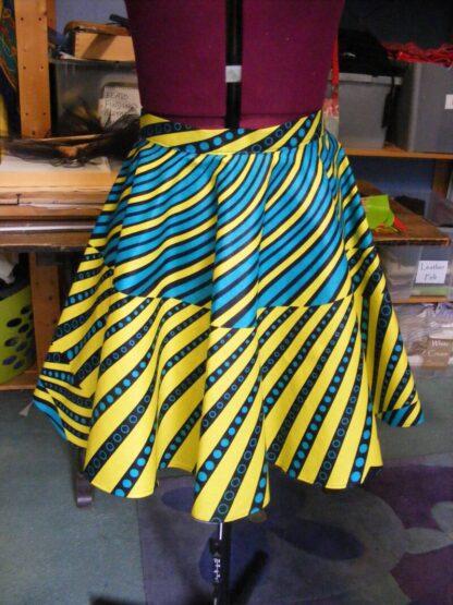 Teal & Yellow Skirt