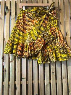 Pattered Wrap Skirt